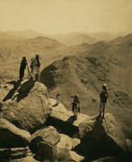 Sinai Posters - Mount Sinai, Men With Rifles Standing Poster by Everett