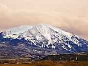 Colorado Mountains Framed Prints - Mount Sopris Framed Print by Marilyn Hunt