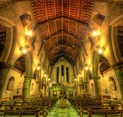 Mount St Bernard Abbey - The Nave Print by Yhun Suarez
