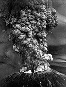 Landforms Posters - Mount St. Helens In Eruption Showing Poster by Everett