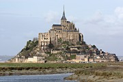 Christianity Photo Framed Prints - Mount St Michel Framed Print by Jrme S.
