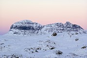 Snowy Night Prints - Mount Suilven In Winter Print by Duncan Shaw