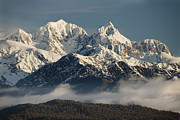 Snow-covered Landscape Photo Prints - Mount Tasman And Mount Cook Southern Print by Colin Monteath