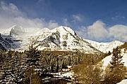 Ski Resort Photo Posters - Mount Timpanogos Poster by Scott Pellegrin