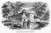 Negro Framed Prints - Mount Vernon: Ice House Framed Print by Granger