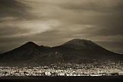 Naples Italy Framed Prints - Mount Vesuvius 2012 AD Framed Print by Terence Davis