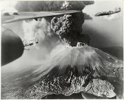 Volcanoes Prints - Mount Vesuvius Coughs Up Ash And Smoke Print by Us Army Air Forces Official