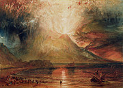 Nocturne Prints - Mount Vesuvius in Eruption Print by Joseph Mallord William Turner