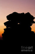 Rock Pile Prints - Mount Washington - New Hampshire USA Sunset Print by Erin Paul Donovan