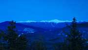 White Mountains Posters - Mount Washington and the Presidential Range at Twilight Poster by John Burk