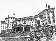 Hotel Drawings Prints - Mount Washington Hotel Number Four Print by Dan Moran