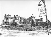 Hotel Drawings - Mount Washington Hotel Number One by Dan Moran