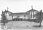 Hotel Drawings Prints - Mount Washington Hotel Number Three Print by Dan Moran