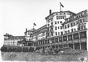 Hotel Drawings Prints - Mount Washington Hotel Number Two Print by Dan Moran