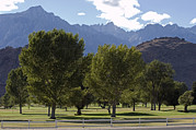 Mount Whitney Posters - Mount Whitney Golf Club Course Poster by Rich Reid