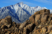 Alabama Hills Posters - Mount Whitney Splendor Poster by Bob Christopher