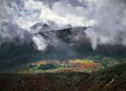 Mountain Light Prints - Mountain Autumn Print by Leland Howard