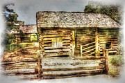 Rustic Barn Interior Art - Mountain Barns by Barry Jones