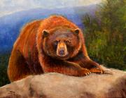 Kodiak Painting Posters - Mountain Bear Poster by Susan Jenkins