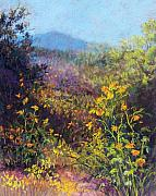 Landscapes Pastels Prints - Mountain Beauty Print by Candy Mayer