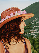 Youthful Painting Prints - Mountain Beauty Print by Charles Luna