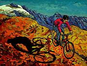 Mountain Bike Paintings - Mountain Bike by Javier Molina