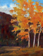Liberty Paintings - Mountain Birches by Mary Byrom