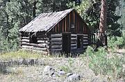 Log Cabins Photo Originals - Mountain Cabin by Brent Easley