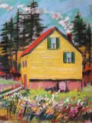 Pennsylvania Drawings - Mountain Cabin by John  Williams