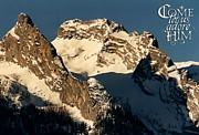 Mountain Christmas Austria Europe Print by Sabine Jacobs