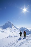 Reverence Framed Prints - Mountain Climbers Contemplate A Distant Framed Print by John Burcham