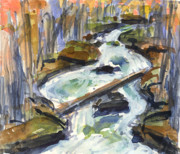 Mary Byrom Prints - Mountain Creek Print by Mary Byrom