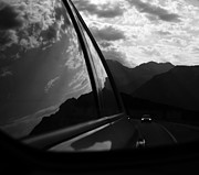 Car Window Framed Prints - Mountain Drive  Framed Print by Jerry Cordeiro