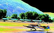 Planes Digital Art Framed Prints - Mountain Flight Framed Print by Peter  McIntosh