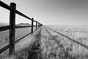 Colorado Aspen Prints - Mountain Framed In Split Rail Fence Print by Jon Paciaroni