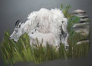 National Pastels Originals - Mountain Goats by Barbara Gulotta