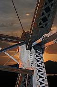 Bridge Digital Art Acrylic Prints - Mountain Iron Acrylic Print by Carver Kearney