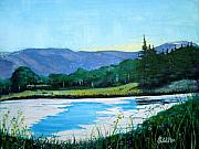 Wyoming Paintings - Mountain Lake by Judy Fischer Walton
