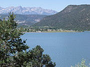 Mountain Lake Print by Lee Manning