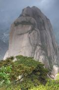 Out-of-door Prints - Mountain Landscape, Huangshan, China Print by Jerry Kobalenko