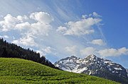 Ranges Prints - Mountain landscape in the alps Print by Matthias Hauser