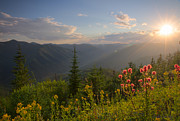 North Idaho Prints - Mountain Light Print by Idaho Scenic Images Linda Lantzy