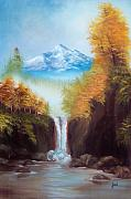 Landscap Painting Originals - Mountain Majesty by Joni McPherson