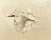 Airbrushed Art Mixed Media - Mountain Man by Robert Martinez