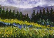 Miniature Pastels - Mountain Meadow by David Patterson