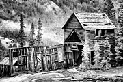 Old Mine Framed Prints - Mountain Mine BW Framed Print by Lana Trussell