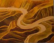 Middle East Painting Originals - Mountain Pass by Julia Collard
