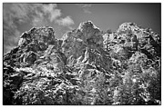 Snow On Mountains Framed Prints - Mountain Peaks Framed Print by Lisa  Spencer
