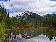 Mountain Pond Reflection Print by Roderick Bley