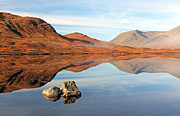 Rannoch Photo Prints - Mountain reflection Print by Grant Glendinning
